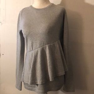 Crew cuts gray with silver thread blouse #16 teen